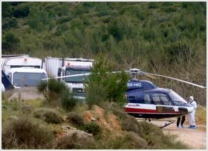 To AS-355 N ECUREUIL με call sign SX-HIG, μετά την αεροπειρατία.