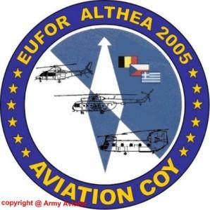 Το σήμα του Λόχου Αεροπορίας Στρατού της επιχείρησης ALTHEA.