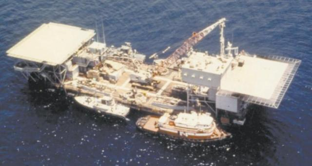 Mobile Sea Base Wimbrown VII Persian Gulf 1988
