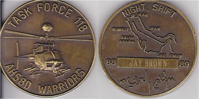 Original TF 118 Coin