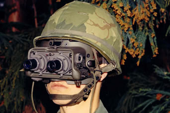 AN/PVS-5 - Second-GEN image intensifier night vision goggle.