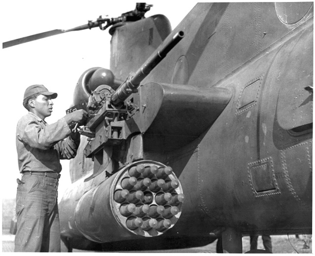 checking the 20mm before a mission