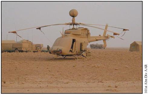 Ε/Π OH_58D Kiowa Warrior της  101ης ΤΑΞΑΣ μετά την αμμοθύελλα.