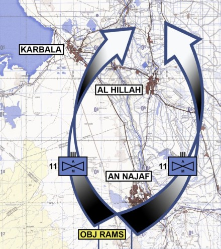 11th AHR attack scheme for 23 March 2003