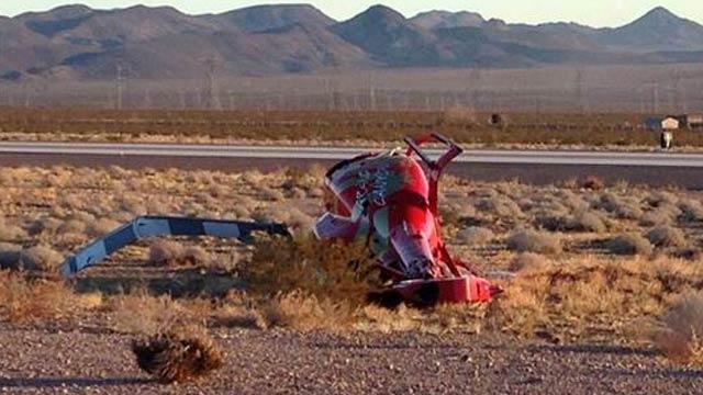 Wreckage of Papillon Airways Inc EC130B4, N133GC (Credit: Boulder City Social)